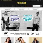 30% off Factorie Online - No Min Spend
