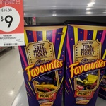 Cadbury Favourites 540g $9 @ Kmart + Redeem a Free Movie Ticket