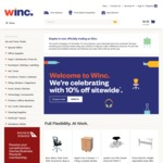 Winc (Formerly Staples) 10% off Sitewide