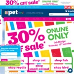 30% off Online Only @ PETstock