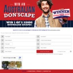 Win 1 of 5 Flight Centre Digital Gift Cards Worth $5,000 Each [Spend $5+ on Don Small Goods Products at IGA, Ritchies etc]