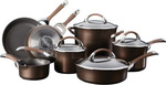 Circulon Symmetry Chocolate '11 Piece' Cookware Set - Introductory Offer - $255 + Free Shipping (RRP $849.95) @ Cookware Brands