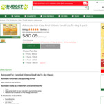 Advocate for Cats and Kittens Small up to 4kg 9 Pack $80.09 @ Budget Pet Products