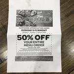 [NSW] 50% off Entire Menu Order (Excludes Value Range & Hawaiian) @ Domino's Pyrmont (Customer Appreciation Week)