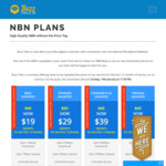 Unlimited NBN $19p/M 12mbps, $29p/M 25mbps, $39p/M 50mbps, $59p/M 100mbps @ Buzz Telco Prices for The First Year (No Contract)