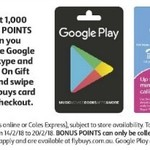 1,000 Bonus Flybuys Points (Worth $5) on Google Play, Skype, Cotton on Gift Cards @ Coles
