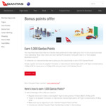 Register to Earn 1000 Bonus Qantas Points on Your Next Qantas Flight Booking @ Qantas