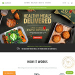 Youfoodz - 7 Meals for $39.65 + Free Anzac Biscuits (Existing Customers)