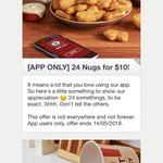 KFC - 24 Chicken Nuggets for $10 (via App)