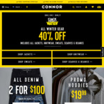 CONNOR 40% off All Winter Gear (Click Frenzy, Online Only)