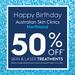 [VIC] Birthday Sales - 50% off Laser and Skin Treatments at Australian Skin Clinics (17th May @ Northland)