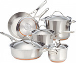 Anolon Nouvelle Copper 10 Piece Cookware Set $239.95 + Free Shipping (was $799.95) @ Cookware Brands
