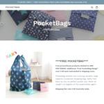 Reusable Bag $4.99 Delivered @ PocketBags