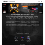 Buy a Qualifying Asus Product and Receive a Free PC Copy of Call of Duty: Black Ops 4