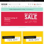 Up to 70% off Clearance Sale at Myer