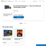 [XB1] Microsoft Xbox One S 1TB Minecraft Edition with Free Red Dead Redemption II for $349 (Save $89.95) @ Microsoft Store