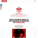 Win 1 of 201 Double Passes to an Advance Screening of Overlord (Melb x 103/Syd x 98) Worth $40 from Ziff Davis