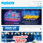 Pushys Free Shipping Site Wide for Purchases $30 and over