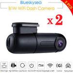 2x Blueskysea B1W 1080P Wi-Fi Mini Dash Cameras $120.88 ($60.44/Piece) Delivered @ Bobstoresafeway eBay