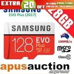 [eBay Plus] Samsung 128GB Evo+ Micro SD $26.36 Delivered @ Apusauction eBay
