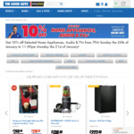 10% off Selected Home Appliances, TVs & Audio @ The Good Guys Online Store
