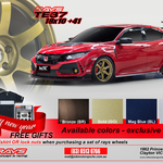 "[VIC] Rays TE37 OG (Wheels/Rims) for Honda Civic Type R ""FK8"" + Free Rays T-Shirts & Rays Lug Nuts Set $3890 @ MK Motorsports"