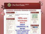 One Stop Fabric Shop - Free Shipping to Anywhere in Australia + 15% Off Store Wide