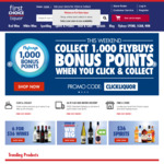 Collect 1,000 BONUS POINTS When You Click and Collect @ First Choice Liquor Online