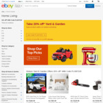 20% off 76 Selected Stores (Min Spend $50) @ eBay