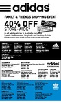 Adidas - 40% off at ALL Australian Stores - F&F May 26th to 28th