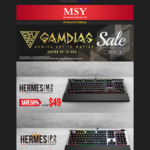 MSY Gamdias Sale: Hermes M2 Mechanical Keyboard $49, Zeus P1 Mouse $25 + More