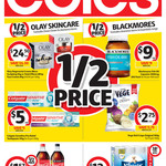 1/2 Price Olay Skin Care, Blackmores Supplements, Colgate Sensitive Pro-Relief Toothpaste 110g ($5) @ Coles