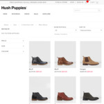 Boots Sales $40/$59/$70 + $9.95 Delivery @ Hush Puppies