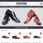 Father's Day Sale - 60 to 70% off Leather Footwear & Free Shipping on Orders over $99 @ Footer.com.au