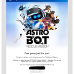 [PS4] Free - Astro Bot Rescue Mission VR Full Game for PlayStation Plus Members @ PlayStation Store