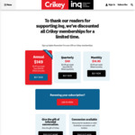 Crikey: 33% off Annual Subscription ($149) + 1 Month Free
