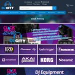 DJ CITY Click Frenzy Deals: e.g. KRK ROKIT 5 G3 (Black) $358 / Mackie MR524 (Pair) $438 / MR824 (Pair) $598 Delivered @ DJ CITY