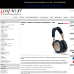 Bowers & Wilkins PX Wireless Noise-Cancelling Headphones (Soft Gold Only) $349 Delivered @ Clef Hi-Fi