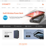 Cygnett 30% off SItewide (e.g. Chargeup Pro USB C 20, 000mAh Was $169.95, Now $118.67 Delivered)