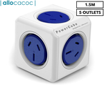 Allocacoc 5-Outlet 1.5m Original Extended PowerCube - Blue $5 + Delivery (Pick up from Target $4.47) @ Catch