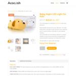 Baby Night LED Light for Kids $24.35 Delivered (Further 15% off) @ Acocosh