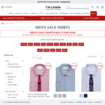 T.M.Lewin 5 Sale Shirts Delivered for $149 ($29.80 Each) Free Home Delivery $150+ @ TM Lewin Australia
