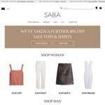 Further 40% off Sale Tops & Shirts @ SABA