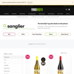Free Delivery @ Vinomofo e.g. Sanglier - 58% off 94pt Chardonnay 2018 or 50% off 93pt Grenache Blend 2017 - 12pk $192 ($16/bt)