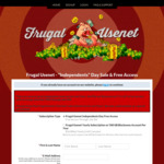 Frugal Usenet Free Access through Sunday / $36 USD Per Year Includes Multiple Servers & 500 GB Block Account Each Year