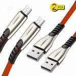 2 Pack - USB to Micro Charging/Data Cable 1M $7.90 (20% off) + Delivery ($0 with Prime/ $39 Spend) @ Luoke Amazon AU