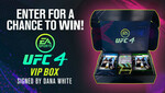 Win 1 of 5 Autographed UFC 4 (Video Game) VIP Boxes from EA Sports