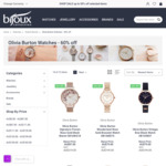 60% off Olivia Burton Watches. All Styles + Free Postage for All Orders over $89 @ Bijoux