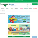 50% off RRP Big Brand Vitamins & Skincare - Ethical Nutrients, Inner Health, Caruso's, Neutrogena, Sukin + More @ Superpharmacy