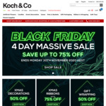 Black Friday Deals (30% to 75% off Xmas Decorations, Artificial Flowers, Gift Packaging & More) @ Koch & Co